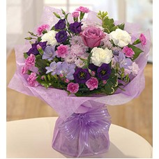 Purple & Pink Handtied Bouquet