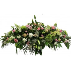 1.8m Full Size Coffin Spray (Family Flowers)